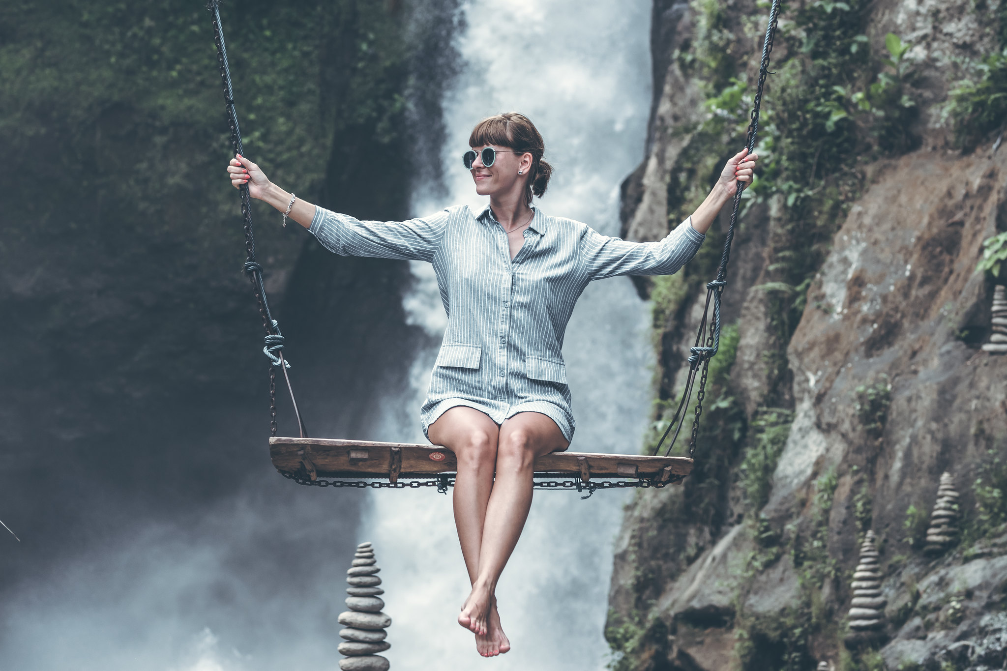waterfall swing in Bali